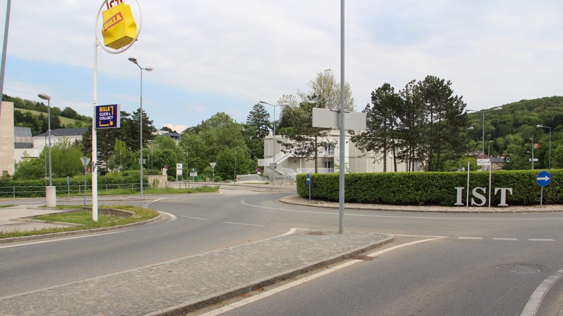Maria-Gugging-Kreisverkehr-beim-IST-Austria-als-Sorgenkind