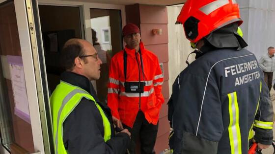Evakuierung - Mehrparteienhaus Amstetten