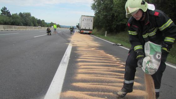 Schwerer Verkehrsunfall auf der A2 bei Rastplatz Leobersdorf