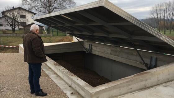 Biomassebunker Deckel mit Obmann (Medium)