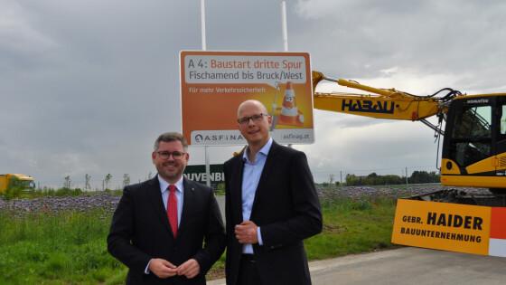 Mobilitätslandesrat Ludwig Schleritzko (Niederösterreich); ASFINAG Geschäftsführer Andreas Fromm