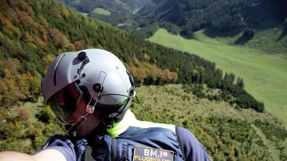 Einsatz in der Steiermark - Polizeihubschrauber rettete Männer aus NÖ aus Bergnot