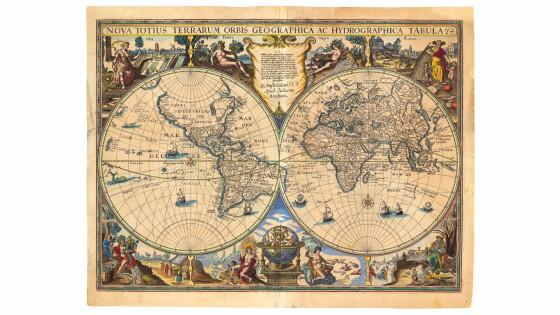 Abb. 2 Die Weltkarte des Kartenverlages Hondius aus dem Jahre 1625 - Kopie