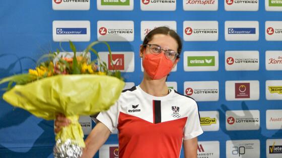 Goldmedaillengewinnerin AnnaKiesenhofer
