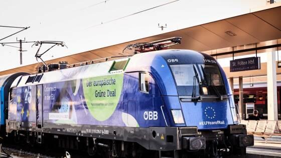 """Rekordzug """"Connecting Europe Express"""" zu Gast in St. Pölten"""