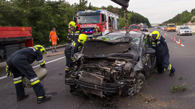 Unfall auf der A2 Südautobahn