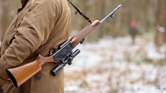 Treibjagd Jagd Jäger Gewehr Jagdgewehr Symbolbild