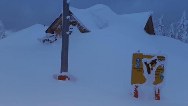 Hochkar Gipfel Symbolbild Schneechaos Winter Winterwetter