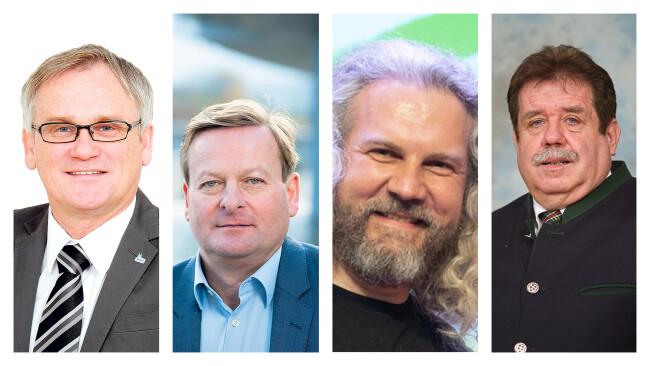 Robert Altschach, Gottfried Waldhäusl, Martin Litschauer und Franz Pfabigan