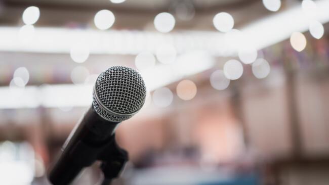 Diskussion Mikro Mikrophon Mikrofon Symbolbild