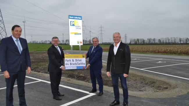 A4-Auffahrt Bruck West - Parkplatz für Gemeinschaftsfahrer bei Bruck eröffnet