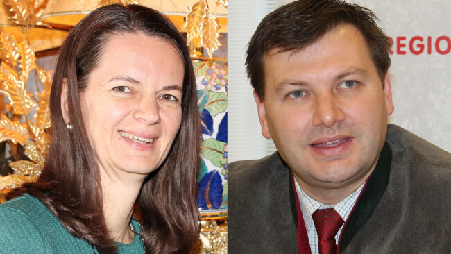 Kerstin Suchan-Mayr und Andreas Pum