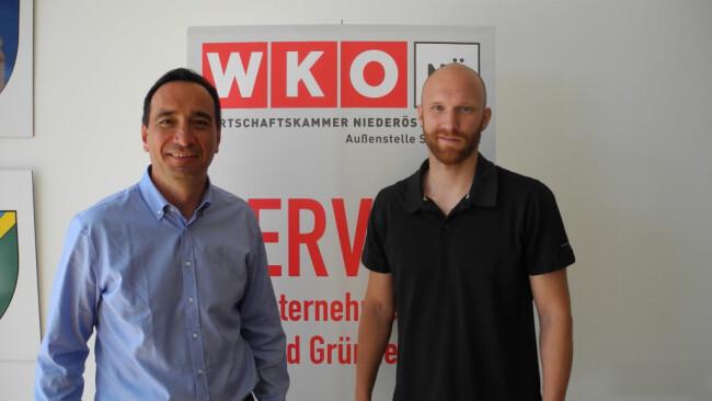 Mario Freiberger mit Robert Almer