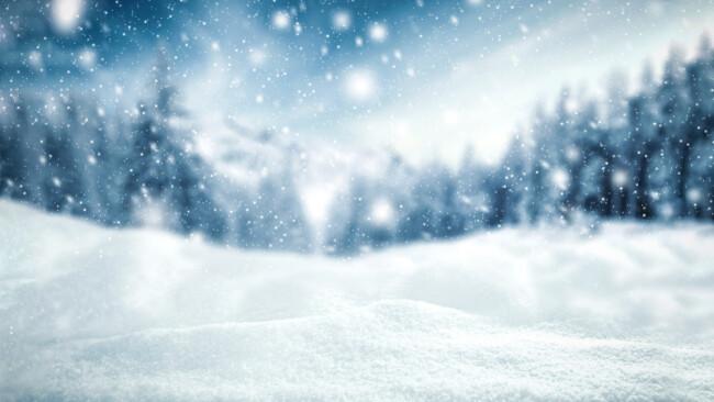 Schnee Schneefall Winter Symbolbild