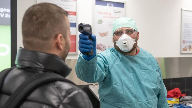 Körpertemperaturmessungen Coronavirus Flughafen Wien Schwechat