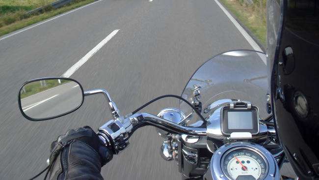 Motorradfahrer Motorrad Biker Symbolbild