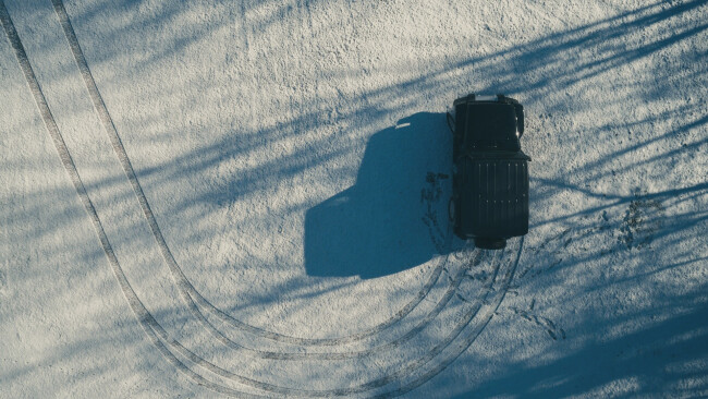 Schneefahrbahn Symbolbild