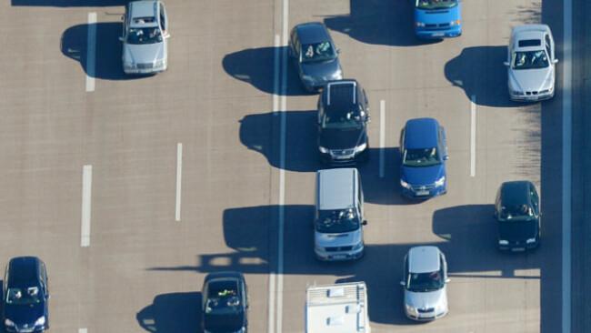 Viel los auf den Autobahnen