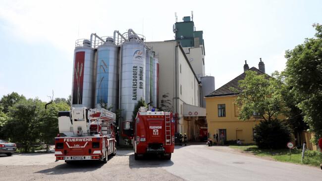 Brandalarm in Mühlbetrieb