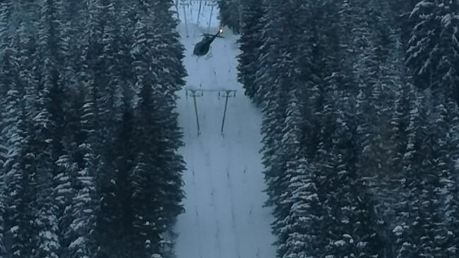 Maiszinken Maiszinkenlift Lunz am See Winterwetter Lawinengefahr Helikoptereinsatz