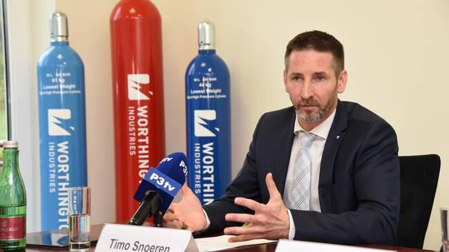 Timo Snoeren, Generalmanager von Worthington Industries