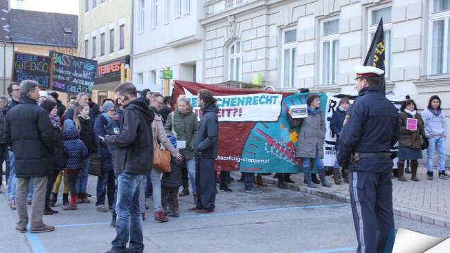 Asyl-Demo in Mistelbach