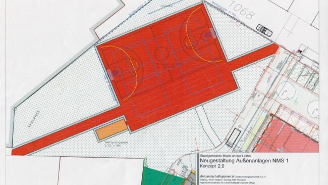 Plan Sportanlange NMS Bruck