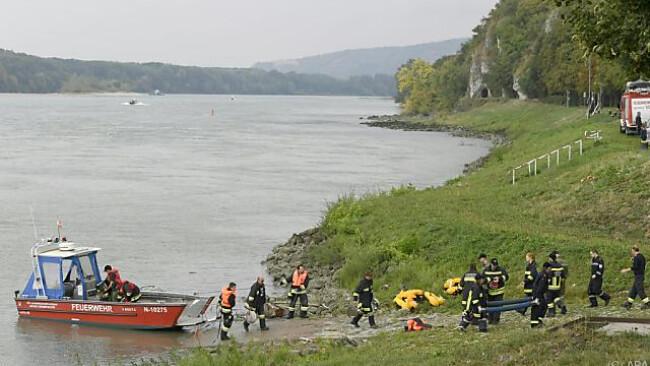 Ein Bundesheer-Boot war auf der Donau bei Hainburg gekentert