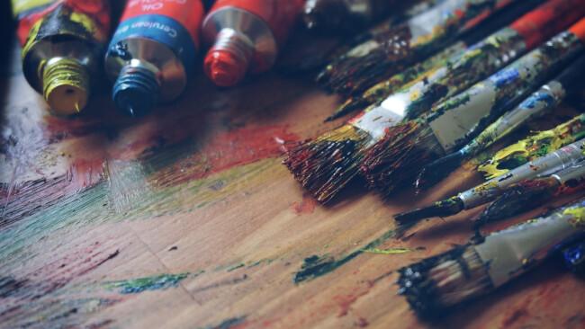 Kunst Malerei Pinsel Symbolbild