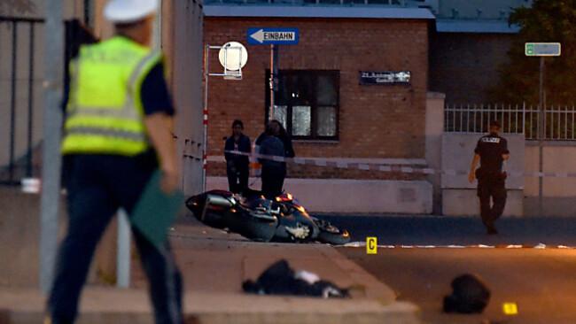 Der Polizist wurde bei einer Verkehrskontrolle niedergestoßen