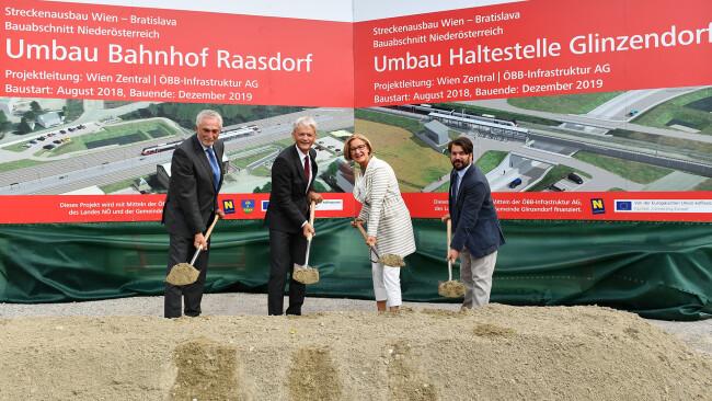 Raasdorf - Bahnstrecke Wien-Bratislava vor Ausbau im NÖ Abschnitt