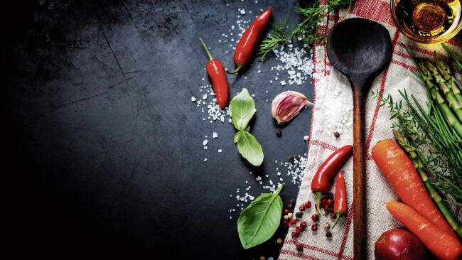 Küche Kochen Essen Gewürze Symbolbild