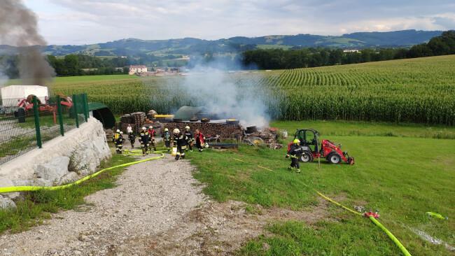 Brand in Zelt