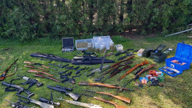 Verbotenen Waffen sichergestellt