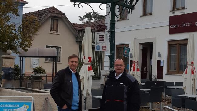 Marktgemeinde Hof am Leithaberge Bgm. Felix Medwenitsch, EVN Christian Edlinger