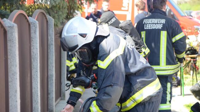 Kellerbrand in Doppelhaus-Siedlung
