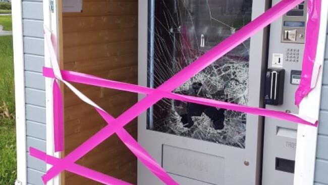 Anschlag auf Weinautomat