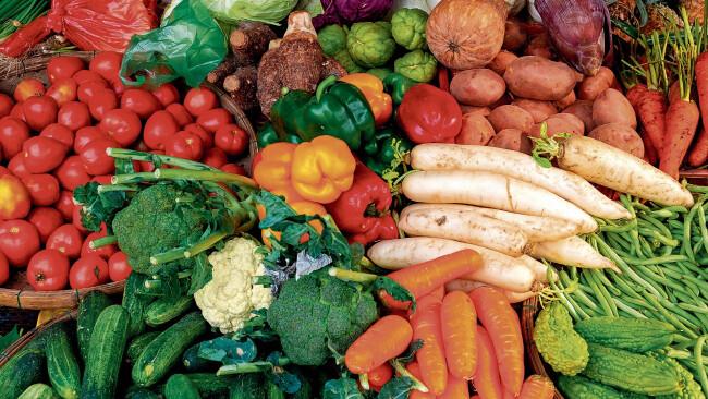 Gemüse Obst Vegetarier Symbolbild