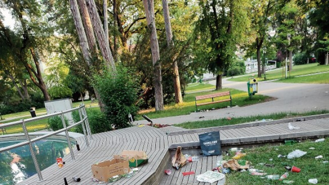 Party und Müll Krems Stadtpark