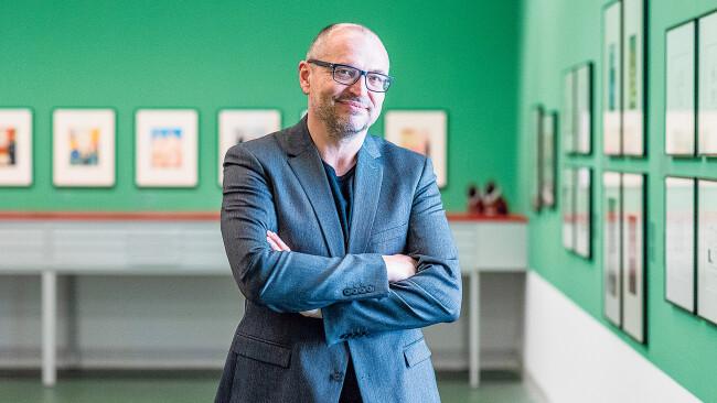 Gottfried Gusenbauer, Direktor des Kremser Karikaturmuseums.