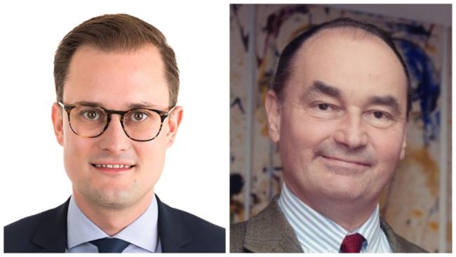 Gemeinderat Oliver Prosenbauer Ortschef Andreas (rechts) Linhart