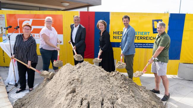 Spatenstich für das neue Kinderhaus in der Josef-Drapela-Straße