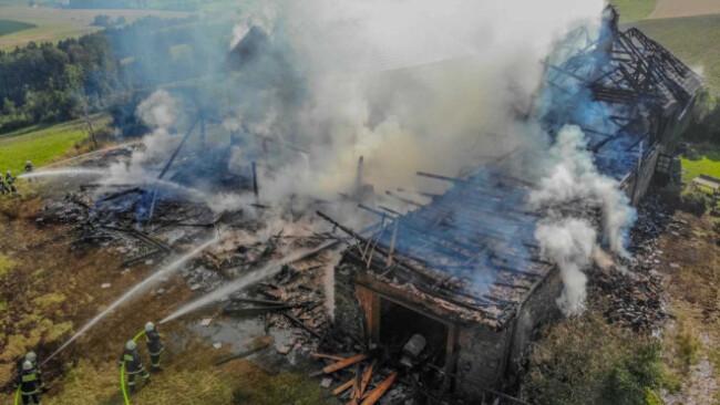Gebäude wurde durch Feuer unbewohnbar