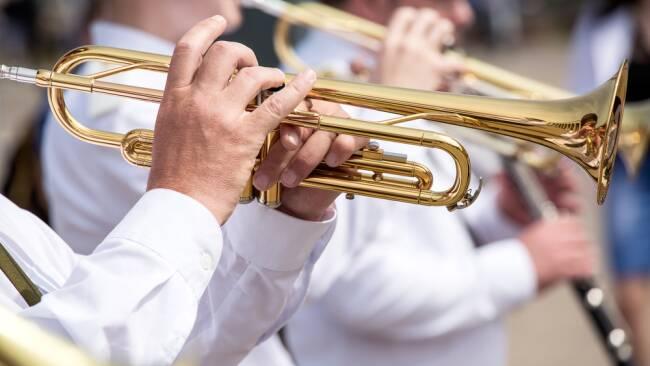 Musiker Blechbläser Symbolbild
