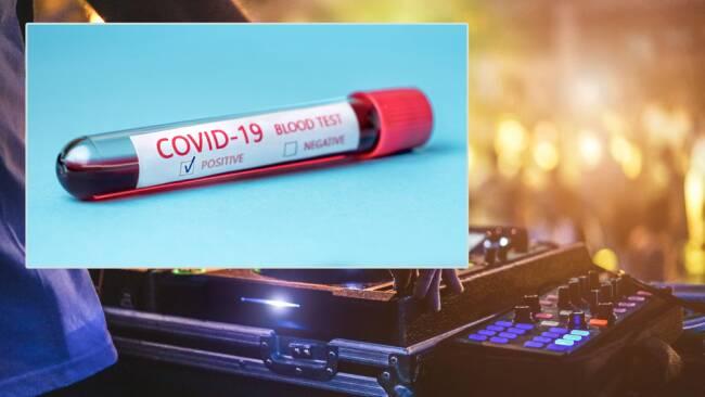 Party DJ Festival Coronavirus Collage Symbolbild