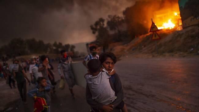 Vor einem Jahr brannte das Flüchtlingslager Moria ab