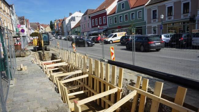 Ertl übt Kritik an Baustelle in Stadt