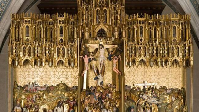 """Der """"Antwerpener Passionsaltar"""" im Museum in der Votivkirche"""