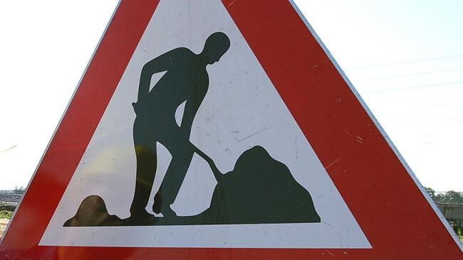 Straßenbau Baustelle Sperre Umleitung Bauarbeiten