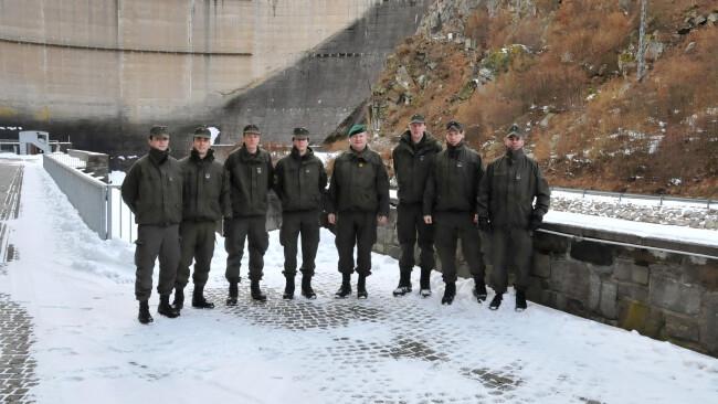 Bundesheer aus Melk besuchte EVN-Kraftwerk Ottenstein